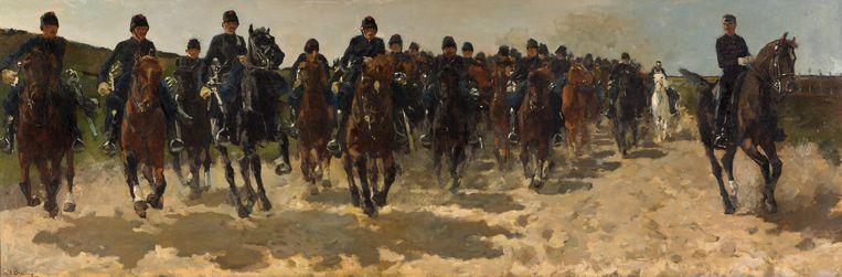 George Hendrik Breitner, Cavalerie, 1883-1888. Beeld Kunstmuseum Den Haag