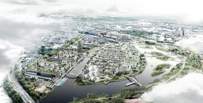 Een impressie van het toekomstige Havenkwartier in Breda.