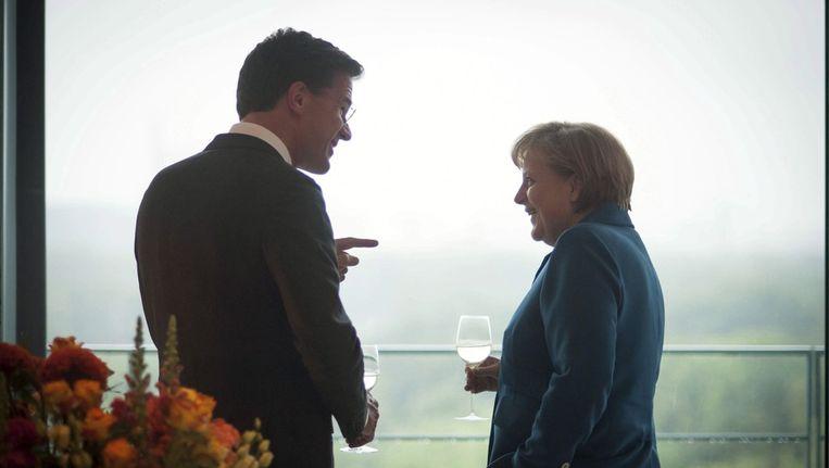 Rutte en Merkel. Beeld EPA