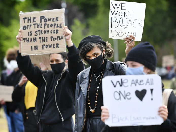 Black Lives Matter protest in Nijmegen.
