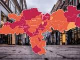 CORONAKAART   Besmettingscijfers kelderen in kwart gemeenten, maar slechte cijfers in midden Gelderland