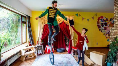 Artiestenduo uit Heverlee brengt circusvoorstellingen tot in je kot