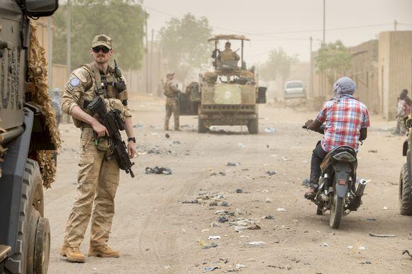Illustratiebeeld. VN-Militairen aan het werk in Mali.
