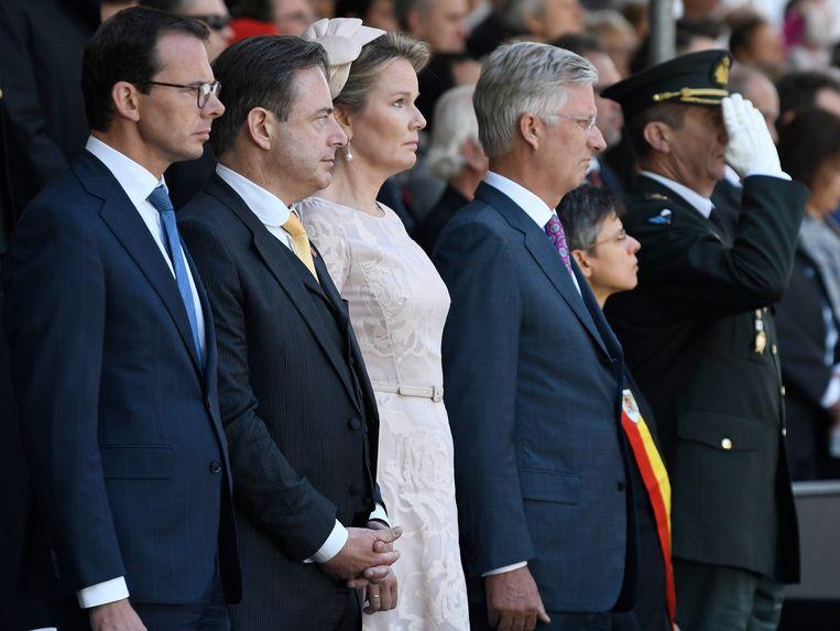 Herdenkingsplechtigheid n.a.v. de 75ste verjaardag van de bevrijding van Antwerpen in aanwezigheid van Koning Filip, Koningin Mathilde en burgemeester Bart De Wever