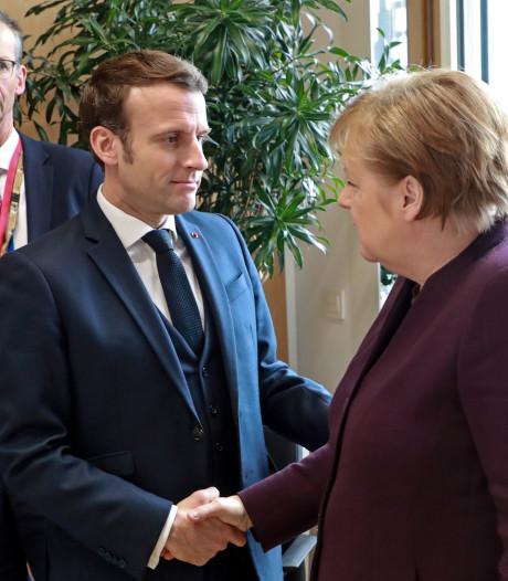 Merkel en Macron willen ontmoeting met Poetin en Erdogan over Syrië