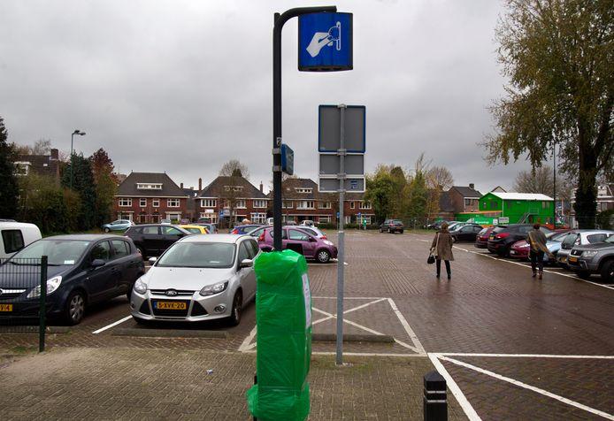 Het parkeerterrein Kloosterplein in Valkenswaard.