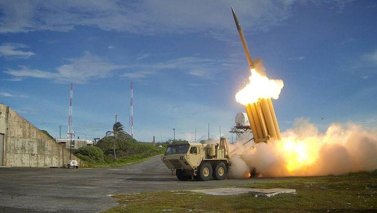 Een Amerikaanse test met een THAAD-luchtdoelraket.