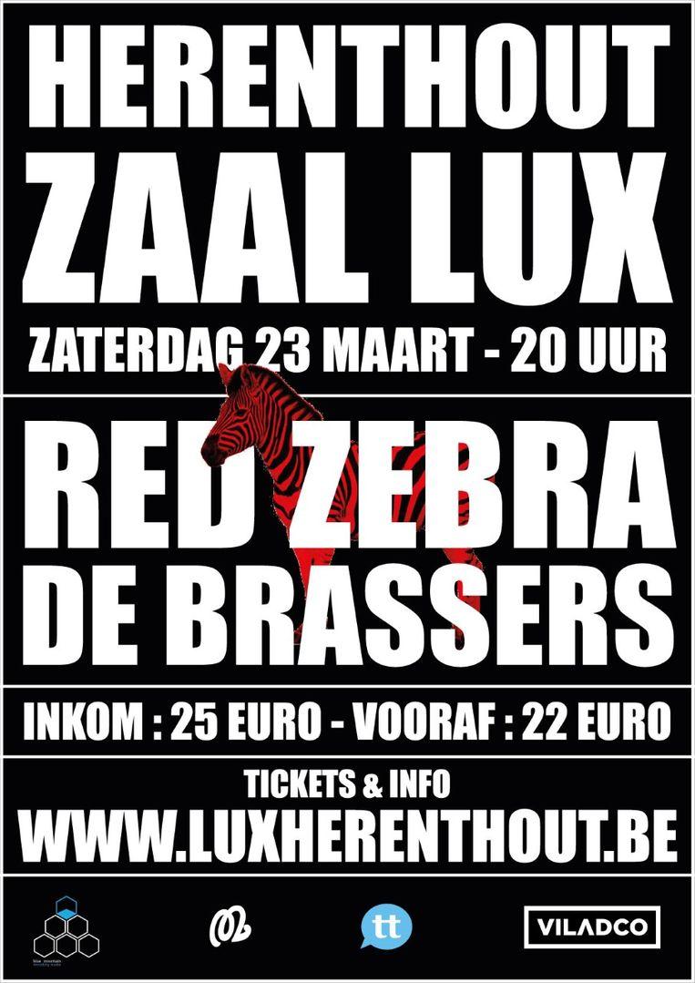 Affiche van de start van de nieuwe concertreeks in Zaal Lux in Herenthout.