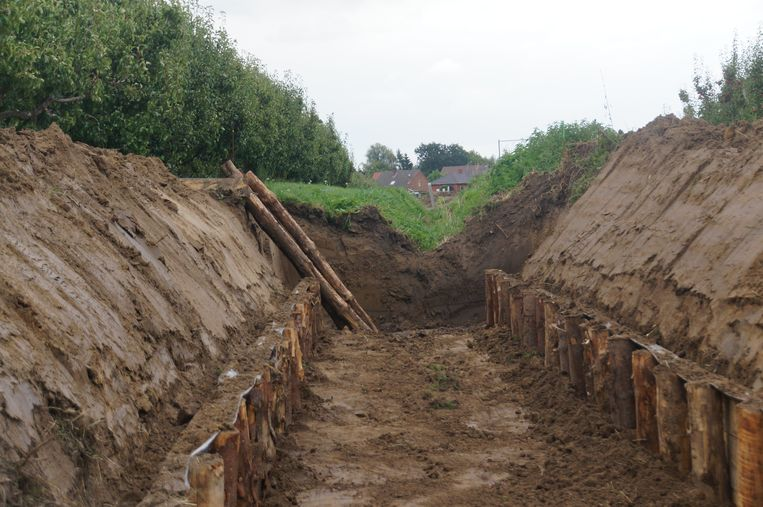 De Dorpsbreek krijgt een breder profiel waardoor er meer regenwater kan opgevangen worden