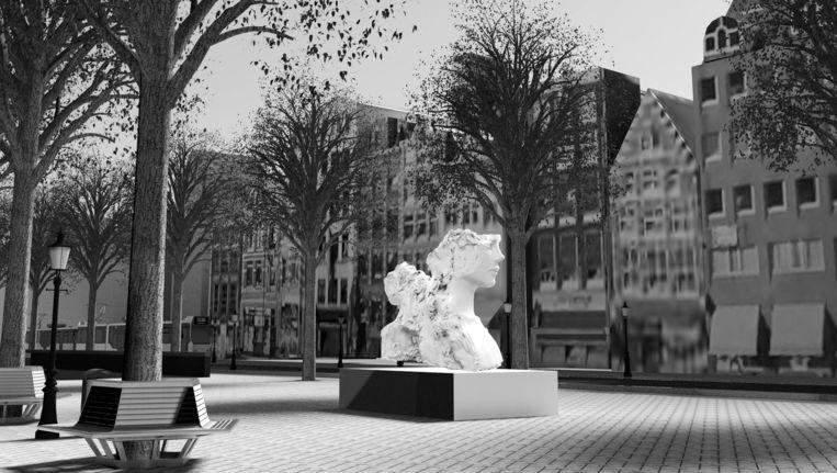 De tweekoppige fontein Beeld Mark Manders