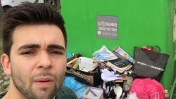 VIDEO. Acteur en zanger Mathias Vergels maakt zich boos op sluikstorters en gaat dan maar zelf aan de slag