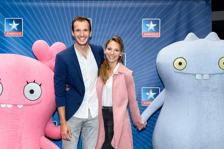 Michiel De Meyer nam zijn vriendin en actrice Line Ellegiers mee. Hij spreekt de stem van Lou in.