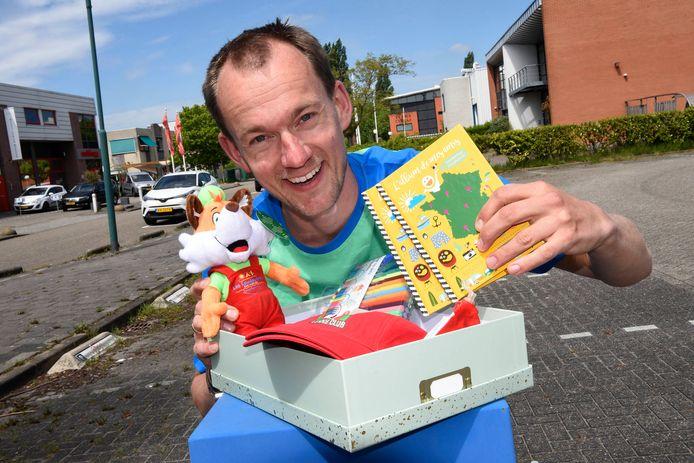 Richard Otten van Team Animation/thuiskamperen.nl met de animatiebox.