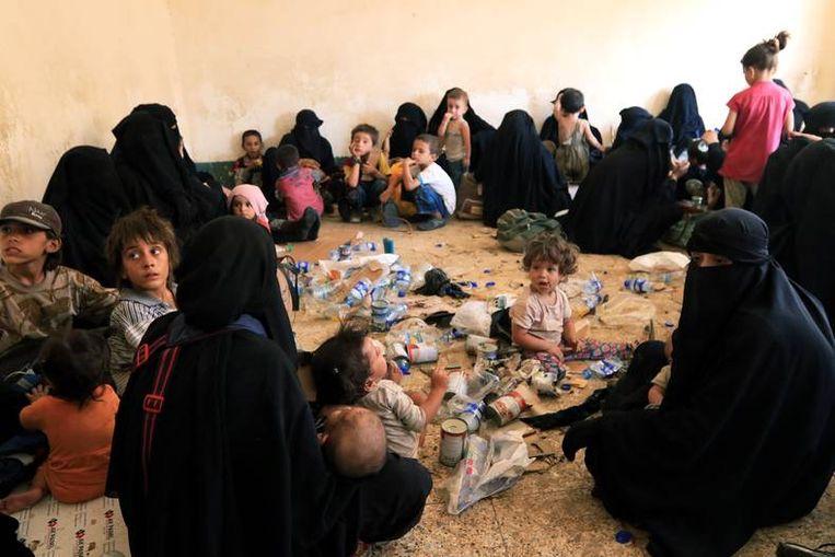 Familie van overleden IS-soldaten.