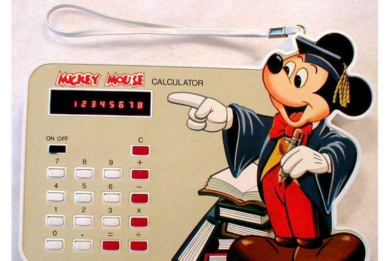 Een Mickey Mouse-calculator. (Beeld internet) Beeld null