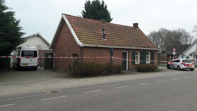 Het huisje waar Ola Urbaniak dood werd aangetroffen op 14 april 2018.
