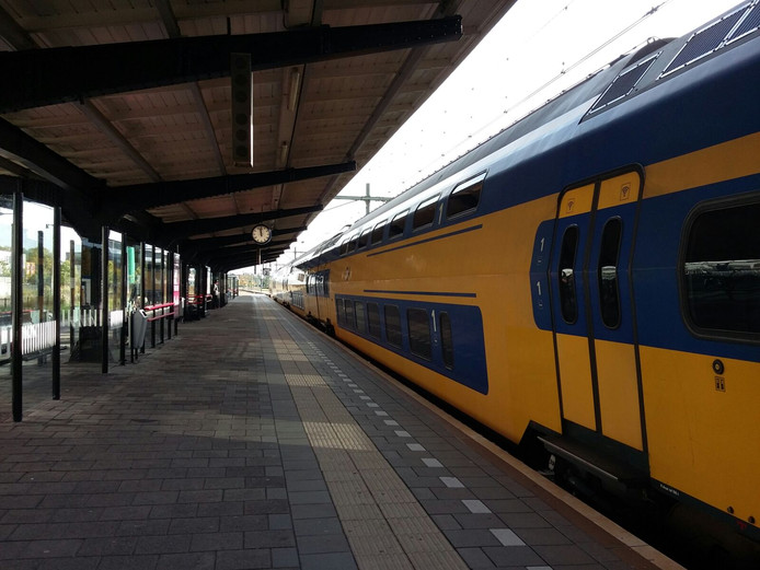 Het treinstation in Goes.
