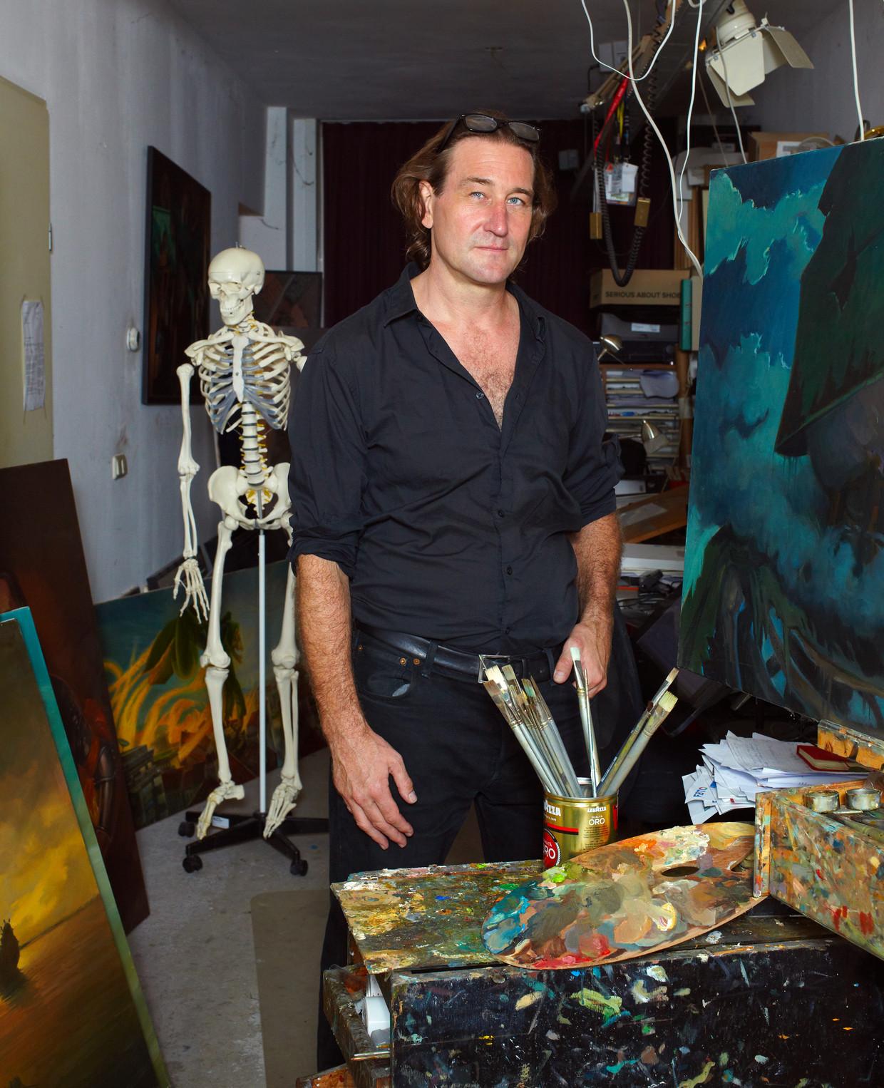 Hisko Hulsing in zijn studio in Amsterdam.  Beeld Daniel Cohen