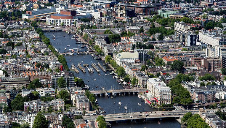 Luchtfoto van de Amstel Beeld anp
