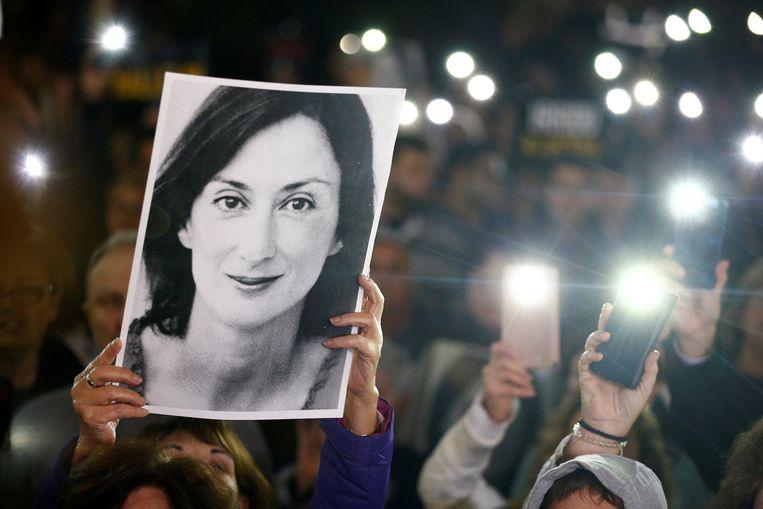Journalist Daphne Caruana Galizia werd ruim twee jaar geleden door een autobom gedood. Beeld REUTERS