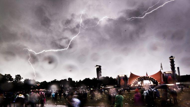 Archieffoto: onweer bij festival Roskilde in Denemarken Beeld null