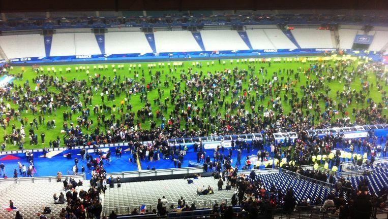 Het Stade de France na de aanslag. Beeld null