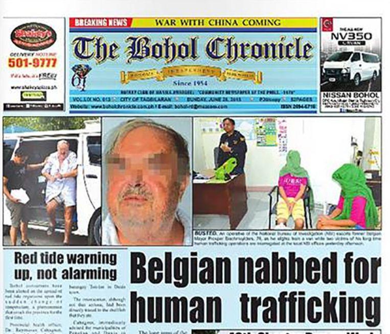 De voorpagina van de Filipijnse krant The Bohol Chronicle.