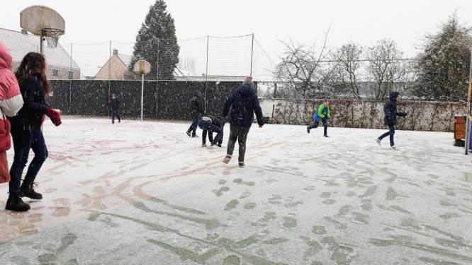 Eerste sneeuwval levert nog geen grote sneeuwballengevechten op, maar wel al flink wat ijspret