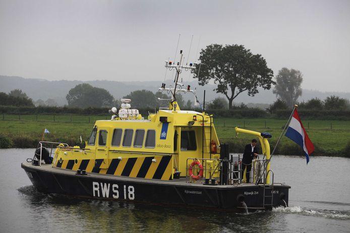 Archiefbeeld ter illustratie: een sonarboot van Rijkswaterstaat