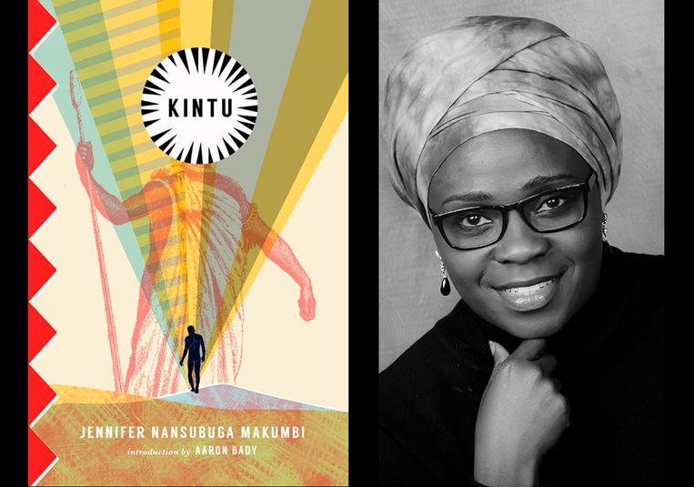 Omslag van de Amerikaanse uitgave van Kintu en een auteursportret. Beeld uitgever