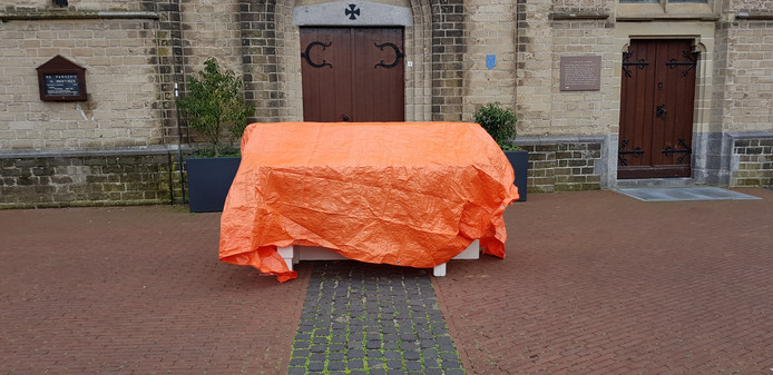 Het altaar dat bij de processie in Wehl wordt gebruikt.