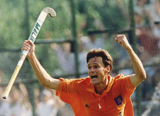 Stephan Veen juicht namens Oranje in 1994.