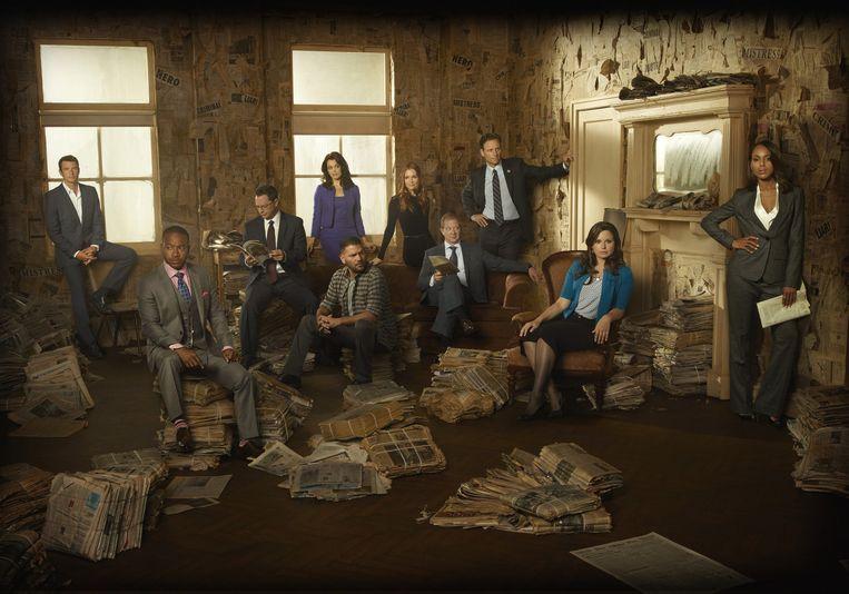 De cast van Scandal, ook te zien bij Net 5 in Nederland en bij ABC (Een broadcast-kanaal van het Disney-concern. Beeld Disney
