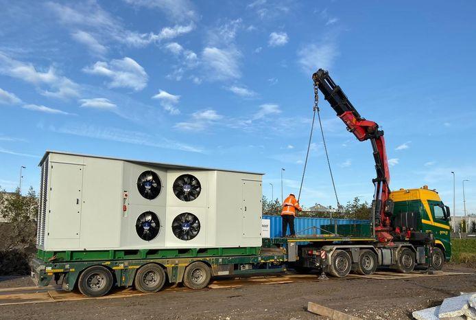 De stikstofstofzuiger van het Drunense bedrijf OC Filtration solutions is door TNO een week lang getest op een bouwlocatie.