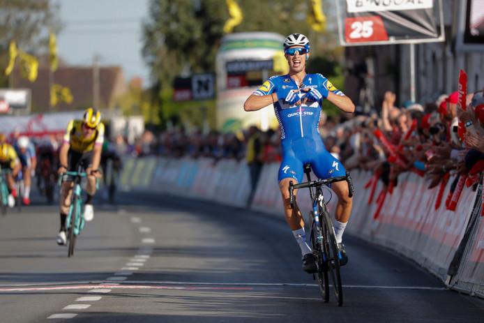 Jannik Steimle, stagiare van Deceuninck Quick Step wint het 104e Kampioenschap van Vlaanderen.