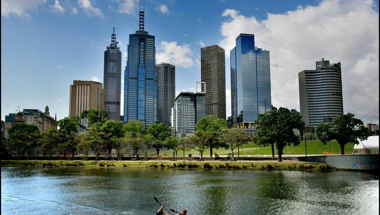 De skyline van Melbourne. Beeld anp