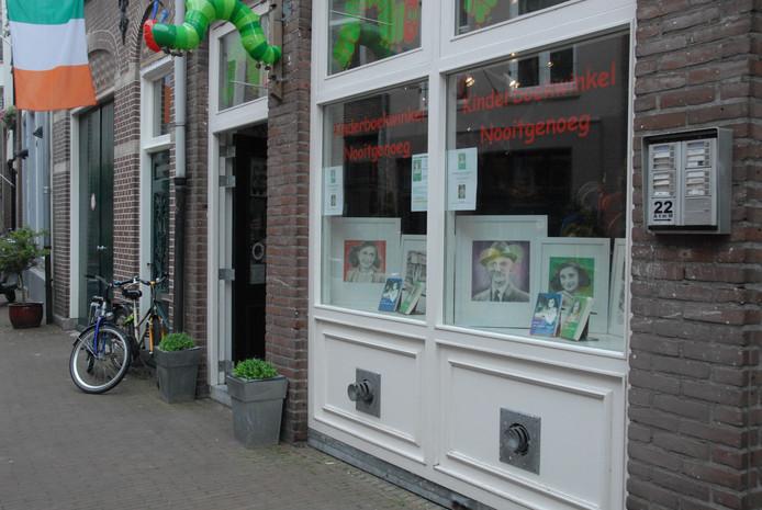 Kinderboekwinkel Nooitgenoeg in de Stoofstraat.
