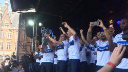 IN BEELD: 35.000 uitzinnige Club-fans vieren 15de landstitel op Grote Markt in Brugge