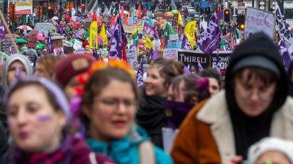 Vandalisme op einde van vrouwenmars in Brussel