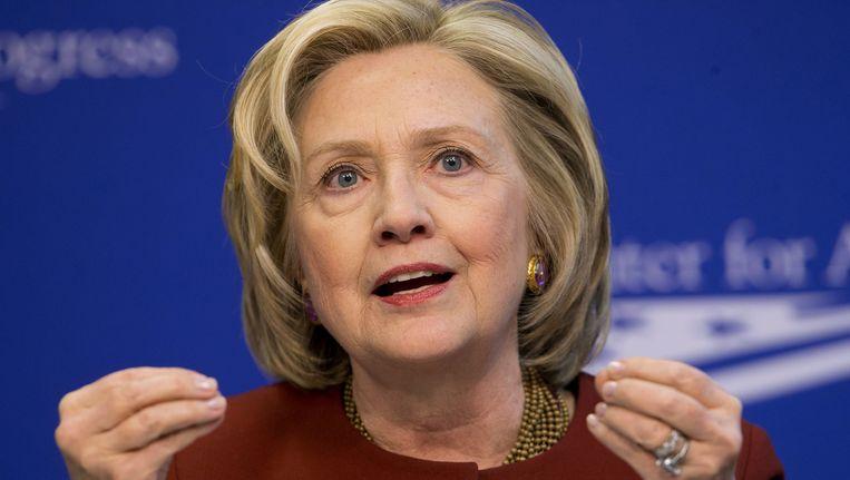 Hillary Clinton. Niemand twijfelt aan haar kandidatuur voor de presidentsverkiezingen van 2016 in de VS, maar ze heeft zich nog niet formeel kandidaat gesteld namen de Democraten. Beeld ap