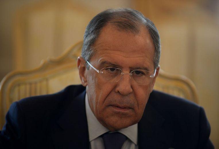 Russische minister van Buitenlandse Zaken Sergej Lavrov Beeld ap