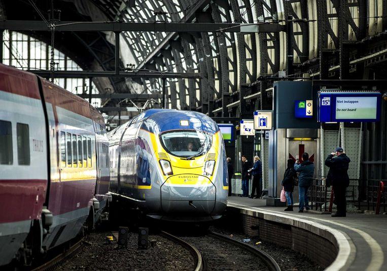 Eurostar en Thalys kunnen nog heel wat 'collega's krijgen op Amsterdam CS, denken experts.  Beeld ANP