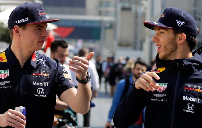 Verstappen en Gasly in hun tijd als teamgenoten.