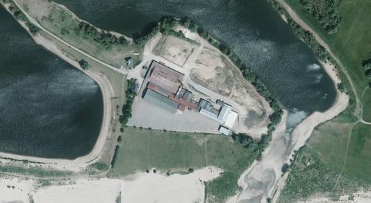 Luchtopname van terrein De Waalwaard.