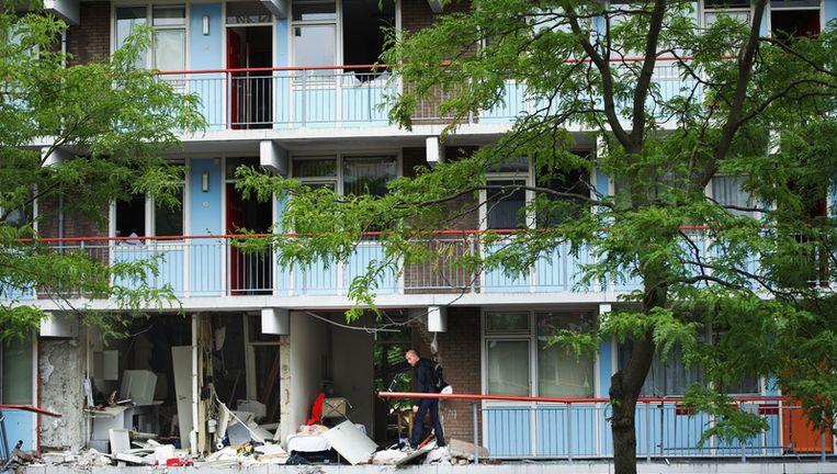 De politie houdt er rekening mee dat de explosie geen ongeluk was. Foto ANP Beeld