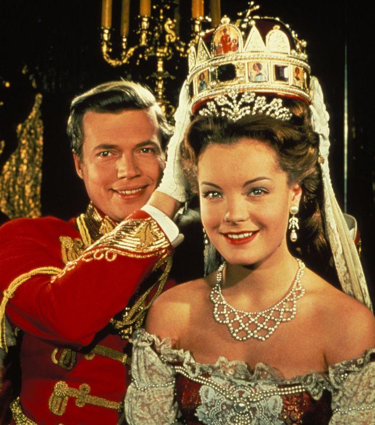 Romy Schneider in haar legendarische rol als keizerin Sissi.
