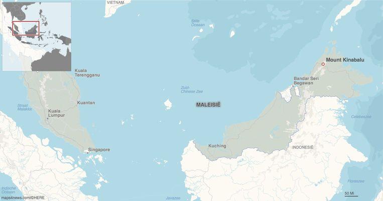 Berg ligt op Borneo in Maleisië en is 4.095 meter hoog.