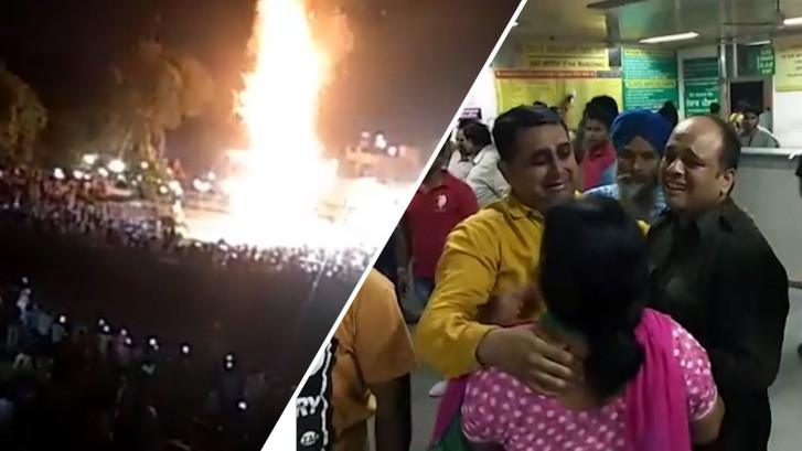 Trein raakt Indiase festivalgangers met hoge snelheid
