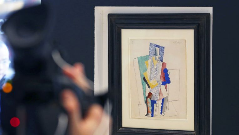 Picasso's doek uit 1914: L'homme au Gibus Beeld ap