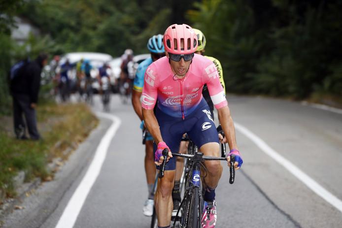 Michael Woods aan de leiding in Milaan-Turijn.
